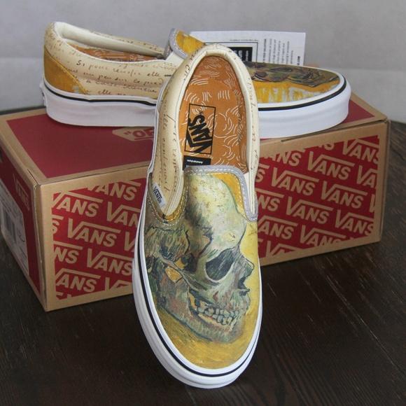 VANS X Vincent van Gogh Skull Slip On Sneakers 813a61a0c
